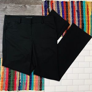 Theory Black Anaiss Soho Strait Leg Pants